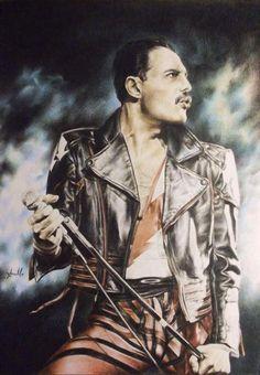 Freddie Mercury. Queen. 1980s. (Fan Art)