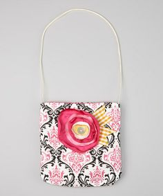 Take a look at this Black & White Damask Amy Purse by Wiggy Studio on #zulily today!
