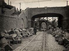 0080-Obras da Esplanada do Carmo, viaduto sobre a Rua 25 de Março. ca 1930
