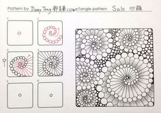 Zentangle pattern -SALO Sharo @ damy 的 快乐 casually patchwork embroidery Zen wrapping :: 痞 客 邦 :: Zentangle Drawings, Doodles Zentangles, Zentangle Patterns, Doodle Drawings, Doodle Art, Zen Doodle Patterns, Tangle Doodle, Tangle Art, Art Zen
