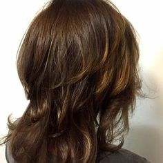 Warm brown with honey Balayage highlights by Denessa Sims - Yelp