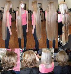 Long To Short Hair, Super Long Hair, Long Hair Cuts, Short Hair Cuts, Short Hair Styles, Rapunzel Hair, Beautiful Long Hair, Prom Dresses, Formal Dresses