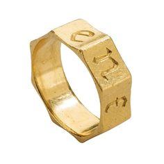 "Gothic Band (""Black Letter"" Posy), ""Ensamble"" [Together], c 1400, British, gold"