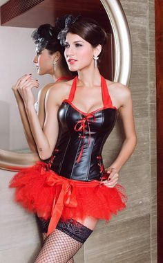 39aca04f20ccc Sexy Corset Palace Type Women PVC Bustier Corset with Dress :: Sexy Sexy  Lingerie Wholesale