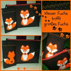 SyFlinga: Kleiner Fuchs trifft großen Fuchs (Fox & Little Fox together at beauty-case and smartphone-case)