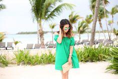 Asos green smock dress