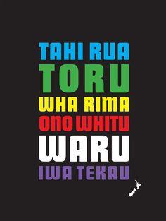 Maori count to ten. Classroom Walls, School Classroom, Maori Words, Nz All Blacks, Maori Designs, New Zealand Houses, Nz Art, Maori Art, Kiwiana