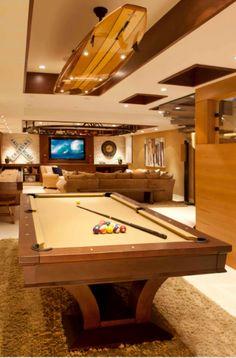 43 Billiard Room Design Ideas | Sebring Design Build Estilo High Tech, Pool Table Room, Pool Tables, Surfboard Decor, Pool Table Lighting, Modern Pools, 3d Home, Billiard Room, Basement Remodeling