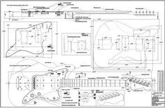 fender modified jazzmaster body template - Google Search | guitar ...