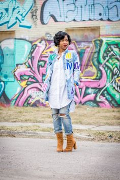 Sweenee Style, CandiPaints, Indianapolis Style Blog, Indianapolis Fashion Blog,Denim Jacket, Boyfriend Jeans