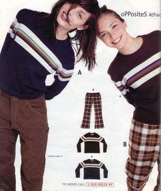 Didn't we all have a striped sweater like one of these back in the day?? Delia's 1996