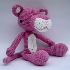 Amigurumi Pink Panther Pattern by PicaPau on Etsy, via Etsy. Crochet Patterns Amigurumi, Amigurumi Doll, Knit Or Crochet, Crochet Toys, Panthères Roses, Pink Panter, Knitted Dolls, Stuffed Toys Patterns, Crochet Animals