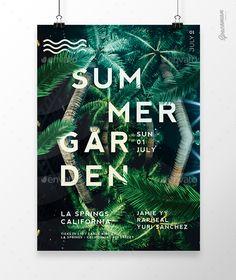 Summer Garden Flyer  PSD Template • Download ↓ https://graphicriver.net/item/summer-garden-flyer/16989805?ref=pxcr