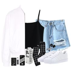 \\is it true that pain is beauty?// by piercetheeden-loves-5sos on Polyvore featuring moda, Chicwish, T By Alexander Wang, Chicnova Fashion, Monki, adidas, Chapstick and Floyd