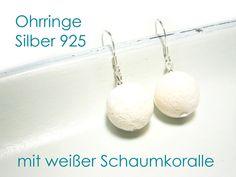 Ohrringe Silber 925 Koralle von DeineSchmuckFreundin - Schmuck und Accessoires auf DaWanda.com