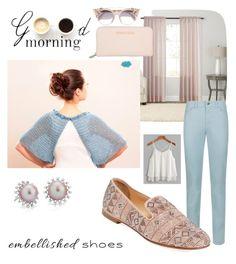 """Serene"" by savenna-zlatchkine ❤ liked on Polyvore featuring SONOMA Goods for Life, Armani Jeans, Giuseppe Zanotti, Jimmy Choo, Blue Nile and embellishedshoes"
