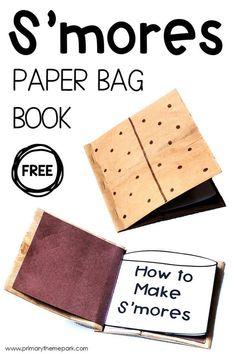 This easy S'mores craft for kids is fun and educational! Use the free printable templates to create this adorable S'mores paper bag book. A great summer writing activity! - Education and lifestyle Arts And Crafts For Teens, Art And Craft Videos, Easy Arts And Crafts, Camping Crafts For Kids, Summer Crafts For Kids, Craft Kids, Preschool Camping Theme, Camping Tips, Kids Crafts