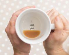 Funny Mugs Bottom of the Mug Message Secret by TheLetterLoftUK