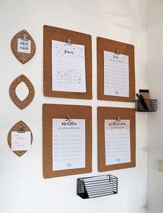 Familienalltag organisieren mit einem DIY IKEA Hack Avskild - so werden aus den Kork-Tischsets Klemmbretter für besseres Familienmanagement
