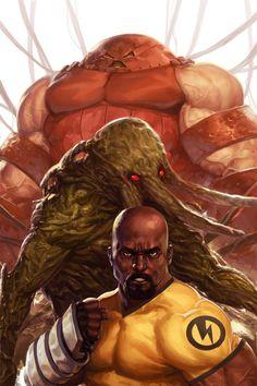 Juggernaut, Man-Thing, & Luke Cage Art by Jarreau Wimberly Hq Marvel, Marvel Comics Art, Marvel Comic Books, Marvel Heroes, Comic Books Art, Comic Art, Book Art, Marvel Comic Character, Comic Book Characters