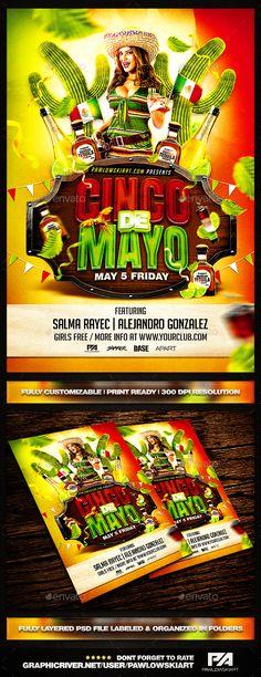 Cinco De Mayo PSD Flyer Template - Holidays Events