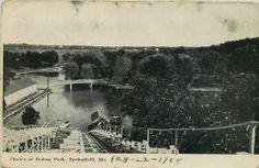 Springfield Missouri MO 1908 The Chutes Doling Amusement Park Vintage Postcard