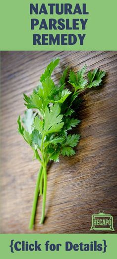 """Parsley actually is a powerful natural diuretic,"" Dr Oz said. It works almost instantly, and eating one cup per day can have a major impact on your swelling symptoms."