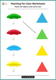 Matching For Color Worksheet