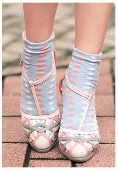 Pastel pattern sandals n socks