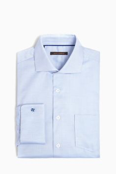 Blue Cotton-Twill Suit Shirt - pre-fall   Adolfo Dominguez shop online