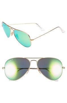 Ray-Ban 58mm Aviator Polarized Sunglasses available at #Nordstrom