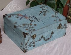 travel keepsake box (maybe decoupage a map on)