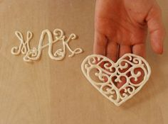 How to Make Molded Chocolate Monogram photo