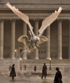 """""""I wanted to have one thing that was quintessentially American, and the Thunderbird is. I feel a special kinship for birds. I loved Dumbledore's phoenix, and I wanted a bird in this film with its own mythology. When the thunder bird flaps its multiple wings, it creates storms, so it's a powerful, mythical creature."""" —J.K. Rowling on the Thunderbird"""