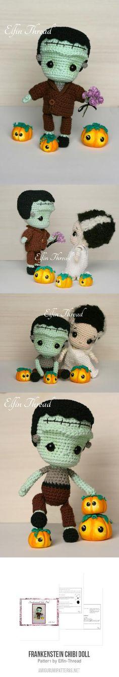 Frankenstein Chibi Doll amigurumi pattern