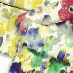Painterly florals & fabric as art! New from @DwellStudio and Robert Allen #moderncolortheory