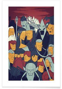 LORD OF THE RINGS 3 - Ale Giorgini - Premium Poster