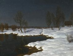 Winter Landscape, by Ivan Fedorovich Choultsé, undated. Oil on canvas.