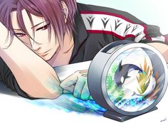 Free! ~~~ The Shark daydreams about the Orca and the Dolphin. :: Rin Matsuoka