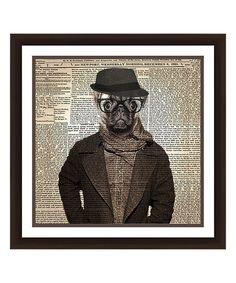 PTM Images Hipster Pug Framed Giclee Print | zulily