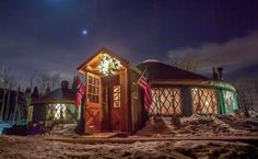 The Viking Yurt in Park City, Utah is an experience of a lifetime! Ride a sleigh up 1000 feet to the top of the mountain where you are greeted with glogg and a 6 course European dining experience. Hoe amazing!!!  #thisisepic #ad