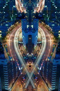 'Graffiti of Speed/Mirror Symmetry' #photography series by #Japan based artist Shinichi Higashi #art