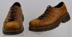 Dr Martens Brown Leather Oxfords UK 6 Women's 8 Men's 7 Used #DrMartens #CasualShoes