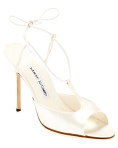 a8506200e274 Manolo Blahnik Trudel Satin Pump Would make great wedding shoes for  someone... Satin