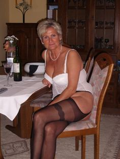 Older women wearing stockings
