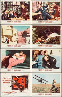 North by Northwest (MGM, Lobby Card Set of 8 & Lobby Card X Hitchcock. We Movie, All Movies, Movie List, Great Movies, North By Northwest, Movie Poster Size, Metro Goldwyn Mayer, Cary Grant, Alfred Hitchcock
