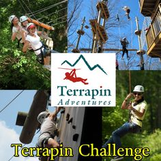 Enjoy our largest package which includes our zipline, high ropes course, climbing tower and giant swing.   Call 301-725-1313 or click here: http://www.terrapinadventures.com/book-your-adventure/ #RopesCourse #Adventure #AdrenalineJunkie