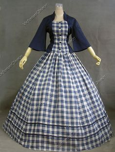 Civil War Tartan Dress - Totally excites the Scottish side of me! - Visit to grab an amazing super hero shirt now on sale! Civil War Fashion, 1800s Fashion, Victorian Fashion, Vintage Fashion, Victorian Gothic, Gothic Lolita, Gothic Fashion, Old Fashion Dresses, Old Dresses
