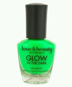 """Forever 21 polish in """"neon green"""" glows in the dark. Applies ok-ish. Had to thin it b4 using"""
