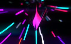 Download wallpapers Neon light, neon lines, bright light bursts, neon abstraction, light